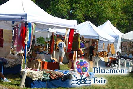 The Bluemont Fair vendors